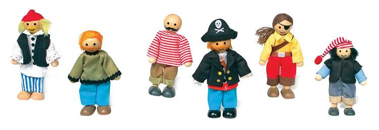 Bendy Pirate Dolls