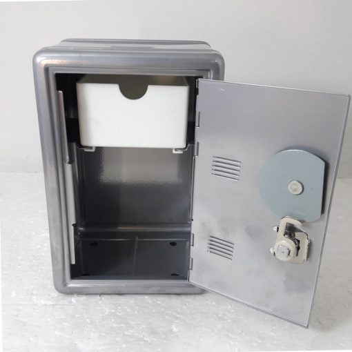 Silver safe with lock
